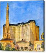 Paris Hotel And Casino Canvas Print