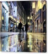 Paris In The Rain Canvas Print