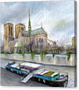 Paris Notre-dame De Paris Canvas Print
