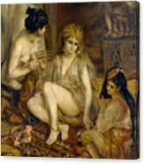 Parisiennes In Algerian Costume Or Harem Canvas Print