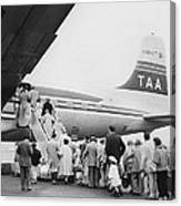 Passengers Boarding Airplane Canvas Print