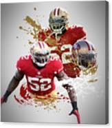Patrick Willis 49ers Canvas Print