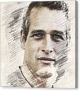 Paul Newman, Actor Canvas Print