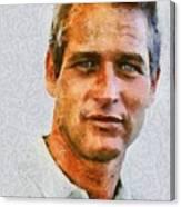 Paul Newman, Vintage Hollywood Actor Canvas Print