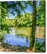 Peaceful On The River Canvas Print