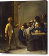Peasants Celebrating Twelfth Night Canvas Print