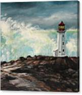 Peggy's Cove Lighthouse Hurricane Canvas Print