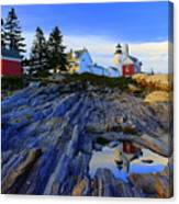 Pemaquid Point Light Reflections Canvas Print