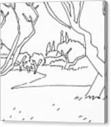 Pen Landscape Canvas Print