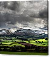 Pen Y Fan And Brecon Beacons Panorama Canvas Print