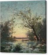 Per Ekstrom, French Landscape In Sunset. Canvas Print
