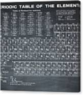 Periodic Table Of Elements In Black Canvas Print
