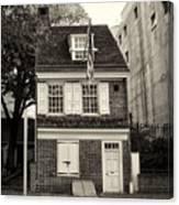 Philadelphia - The Betsy Ross House Canvas Print