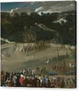 Philip Iv Hunting Wild Boar La Tela Real Canvas Print