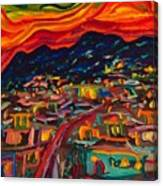 Phoenix Setting Canvas Print
