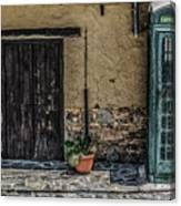 Phone Booth In Cyprus Canvas Print