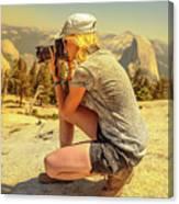 Photographer On Sentinel Dome Canvas Print