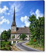 Picturesque Rural Church Canvas Print