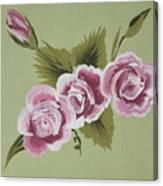 Pink Miniature Roses Canvas Print