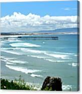 Pismo Beach Pier Panorama Canvas Print