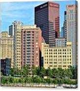 Pittsburgh Building Cluster Canvas Print