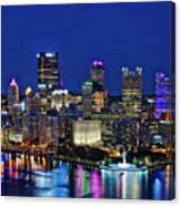Pittsburgh Night Skyline Canvas Print