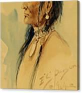 Plains Warrior Canvas Print