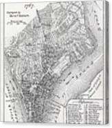 Plan Of The City Of New York Canvas Print