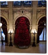 Poinsettia Christmas Tree The Breakers Canvas Print