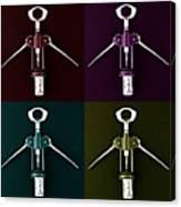 Pop Art Style Corkscrews. Canvas Print