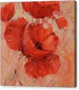 Poppy Flowers Handmade Oil Painting On Canvas Canvas Print