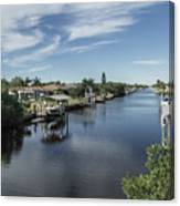 Port Charlotte Ackerman Waterway From Ohara Canvas Print