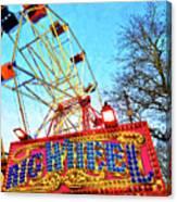 Portable Ferris Wheel Victorian Winter Fair Canvas Print
