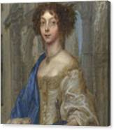 Portrait Of A Woman As Saint Agnes Canvas Print