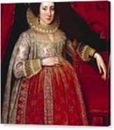Portrait Of A Woman In Red Canvas Print
