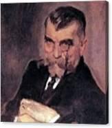Portrait Of Aa Stahovich 1911 Valentin Serov Canvas Print
