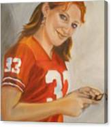 Portrait Of Ellie Canvas Print