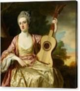 Portrait Of Maria Walpole Canvas Print