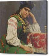 Portrait Of Sophia Dragomirova Canvas Print