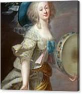 Portrait Une Danseuse Au Tambourin Lisabeth Louise Vige Le Brun Canvas Print