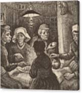 Potato Eaters, 1885 Canvas Print