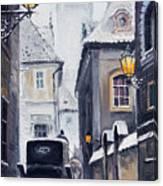 Prague Old Street 02 Canvas Print