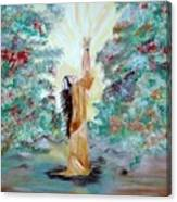 Praying Canvas Print