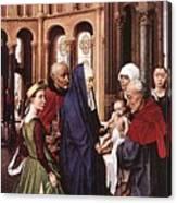 Presentation Of Christ Wga Rogier Van Der Weyden Canvas Print