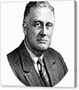 President Franklin Roosevelt Graphic  Canvas Print