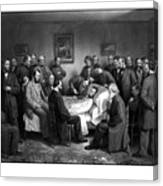President Lincoln's Deathbed Canvas Print