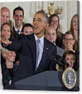 President Obama Honors Us Womens Soccer Team At White House #2 Canvas Print