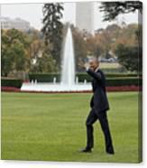 President Obama - White House South Lawn #1 Canvas Print