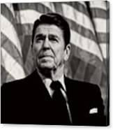 President Ronald Reagan Speaking - 1982 Canvas Print