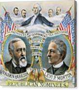 Presidential Campaign, 1888 Canvas Print